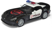 5'' DieCast Metal Super Cool Dodge 2013 SRT Viper GTS Police Children Education Alloy Kinsmart Diecast model toy cars Kids Gift