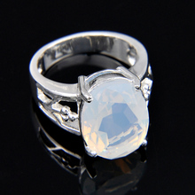 new Fashion Jewelry Gift Classic Synthetic Moonstone Ring 100% Hand Made HOT Silver Plated Rings R0765