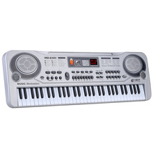 "61 Keys Electronic Keyboard Piano LED Music Toy with Microphone 21"" Educational Electone Christmas Gift for Children EU Plug(China)"