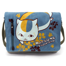 Love anime bag Natsume Yugin-cho Nyanko-sensei Canvas durable high quality Otaku Japanese animation bag Anime fans bag AB108