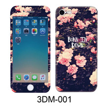 Front & Back Double Sides Burn In Down Pattern Full Screen 3D Color Toughened Glass Film For iPhone 6 6s Plus 7 Screen Protector