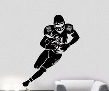 Free Shipping Cool NFL Rugby unionSoccer sporting Vinyl Art Wall Decal For Children Boys Bedroom Wall Sticker Y-214