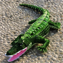 1M One Piece Green Crocodile Plush Toy PP Cotton Stuffed Doll Soft Sleeping Long Pillow Cushions Valentine Day Birthday Presents