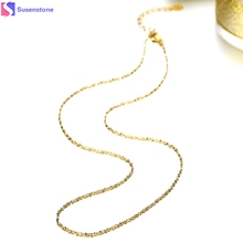 1PC Rose Gold Starry Chain Necklace Golden Tone 45cm Imitation gold necklace #30(China)