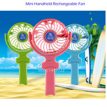 mini Foldable Hand Fans Battery Operated Rechargeable Handheld Mini Fan Electric Personal Fans Hand Bar Desktop Fan(China)