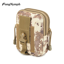 Women/Men Waist Bags Belt Bag Waterproof Casual Waist Pack Oxford cloth Phone Pouch Bag Work Waist Bag Army Military Small(China)