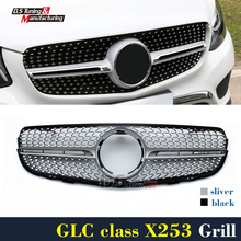 Mercedes X253 Diamonds Grille For Benz GLC X253 SUV C253 Coupe 2015 - Present Front Bumper