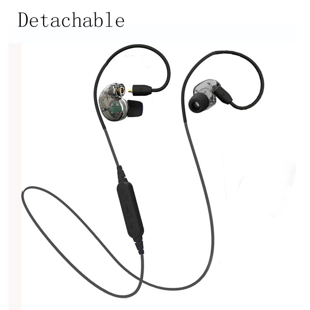 NEW Detachable Bluetooth Earphone Headphone Sport Wireless &amp; Wired Headphone Stereo Noise Reduction Super Bass Headset For phone<br><br>Aliexpress