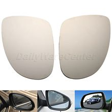 1Pair Heated Door Wing Mirror Glass Left Right Side Mirrors For VW GOLF JETTA MK5 PASSAT B6 EOS R32 Car Rearview Heating Mirror(China)