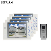JERUAN 8 inch TFT LCD screen video doorphone intercom system video door phone speaker intercom recording doorphone rain cover