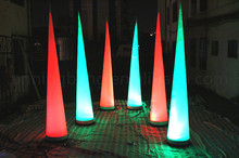 Free shipment 3m high 2017 Hot sale party decoration inflatable cone with led light