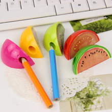 3 PCS New Fruit Pencil Sharpener Colorful Cute Gift Stationery For Children Mini Pencil Sharpener