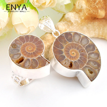 ENYA Russia USA Hot Sell Fashion Handmade Jewelry Sets Natural Ammonite Ring + Pendants High Quality Bijoux