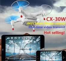 Free Shipping 2014 New CX30W MINI Drone 2.4G RC drone FPV iphone controll with Camera in-built RC WIFI quadcopter 6-axis(China)