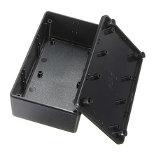 ABS Plastic Electronic Enclosure Project Box Black  Waterproof 103x64x40mm Electrical Connector