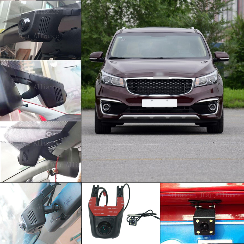 For kia carnival Car Parking Camera Car Wifi DVR 1080P  Novatek 96658 Dual Cameras Car Black Box camcorder<br><br>Aliexpress