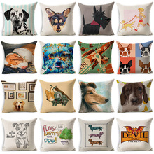 Cute Dalmatian Poodle Dog Pillowcase Cotton Linen Cushion Decorative Pillows Use For Home Sofa Car Office Almofadas Cojines