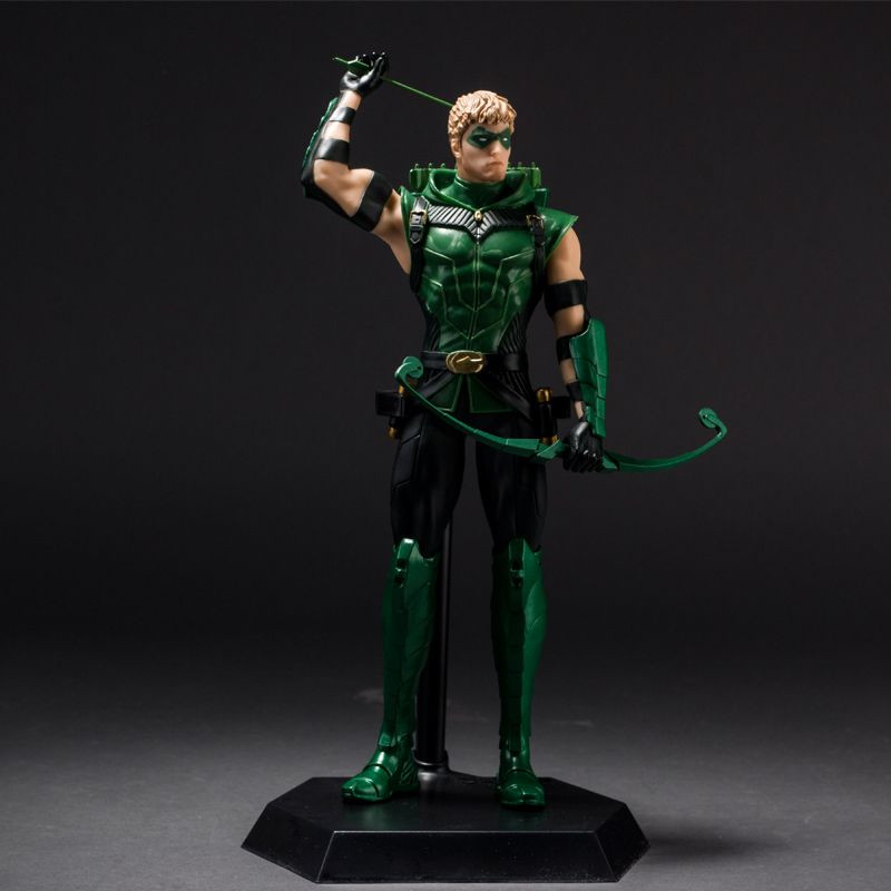 10 New Justice League JLA Green Arrow Superman Boxed PVC Anime Action Figure Model Collection Toy Gift<br>