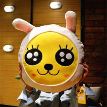 1PC Kakao Friends Pillow Ryan Cocoa Plush Doll Toy Stuffed Toys Ryan Car Cushion Pillow Travel Pillow Emoji Doll
