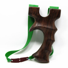 1pc Hot Sell Wood Slingshot High 12.6cm with 3 Powerful Rubber Bands for Hunting Shooting Accessories Archery Catapult