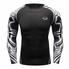 Under t-shirt homme Athletics Tops Blouse Breathing Compression Shirt Armor Fitness t-shirt Men's Women's T-shirt(China)