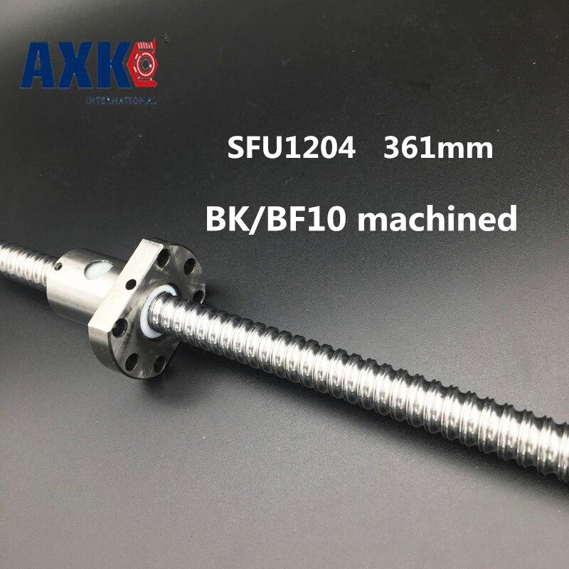 Linear Rail Free Shipping Sfu1204 Rolled Ballscrew Set :1pc -l300mm+61mm(machining Parts) +1pc Ballnut For Rm1204 Cnc Parts<br>
