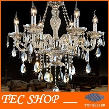 Best Price Modern K9 Crystal Chandeliers for Living Room Bedroom E14 LED Lamp 6 Arms Chandelier Hall Crystal Lighting