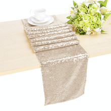 Best Selling Good Price Elegant Hotel Table Runner Champagne &a(China)