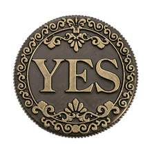 "2017 coin copy ""Yes- NO"" yes no coin with Retro pattern old coins New arrive Popular bronze Russian Coins(China)"