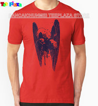 2017 Real Rushed Fashion Cotton Knitted Print No Teeplaza T Shirt Design Printing O-neck Short Sleeve Mens Fallen Angel