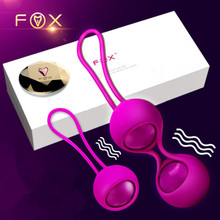 Buy FOX silicone Smart touch Remote Control Vibrating Egg koro Kegel Balls Vaginal Tight exercise Vibrator Ball Adult Sex Product