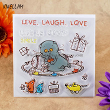LIVE LAUGH LOVE LIFE IS GOOD Scrapbook DIY photo cards account rubber stamp clear stamp transparent stamp 10.5x10.5cm KW7050417
