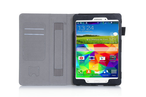 Stand Leather Cover Case For Samsung Galaxy Tab A 9.7 SM-P555 WY-606C Tablet PC with hand holder and card slot high quality<br><br>Aliexpress