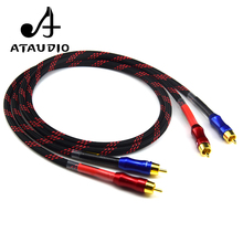 ATAUDIO HIFI Stereo Pair RCA Cable High-performance Premium Hi-Fi Audio 2rca to 2rca Interconnect Cable(China)
