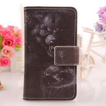 LINGWUZHE 6 Patterned Cell Phone Cover Book Design PU Leather Flip Case For Primux Delta 6''
