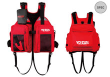 free shipping New Brand YOZURI 600D high density polyester shell farbic Fishing life Vest Adult Size red color(China)