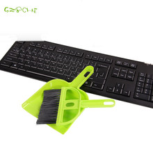 Lovely mini desktop computer keyboard clean sweep dust to dust Small broom brush set with dustpan shovel