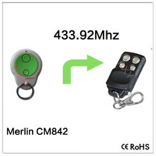 Compatible with Merlin CM842 rolling code remote 433.92mhz