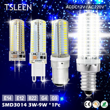 +Cheap+ G4 LED Crystal Corn Bulbs 3014 SMD Silicone Lamp 12V DC 12V AC/DC 220 AC 3/5/9W # TSLEEN
