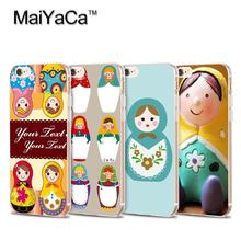 MaiYaCa Russian Dolls Painted Soft Transparent TPU Phone Case Accessories Cover For iPhone 6 6s case(China)