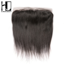 [HJ WEAVE BEAUTY] Brazilian Lace Frontal Closure Straight Remy Hair 13*4 Plucked Natural Hairline Bleached Knots 100% Human Hair