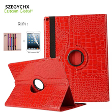 SZEGYCHX Tablet Case For iPad 4 2 3 Case 360 Rotation Crocodile Leather Protective Sleeve Rotary Tablet Stylus Cover pen & Gift