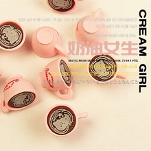 Kawaii Hello Kitty Cat 3D Pink Coffee Cups Cabochons Charms Kawaii Miniature Sweets Decoden Cell Phone Deco 50pcs