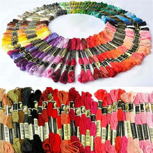 1 Set/ 45pcs Multi colors Cotton Cross Stitch Embroidery Skein Floss Sewing Thread In Different Colors  Wholesale & Retail