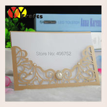 birthday wishes card custom luxurious wedding invitatation card (inner paper,envelop included)(China)