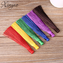 XINYAO 10pcs 120mm Rayon Polyester Silk Tassel Earrings Charms Chinese Knot Cotton Tassels For Jewelry Diy Making Borlas Piel(China)