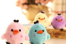Kawaii NEW Little 6Colors- Rilakkuma Bear Chicken , String Pendant Plush Stuffed TOY DOLL , Soft Plush Toys of Bouquet