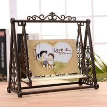 New Vintage LOVE Swing Couple Photo Frame 5 Inch Retro plastic Craft Picture frame Home Decoration porta retrato Gift(China)
