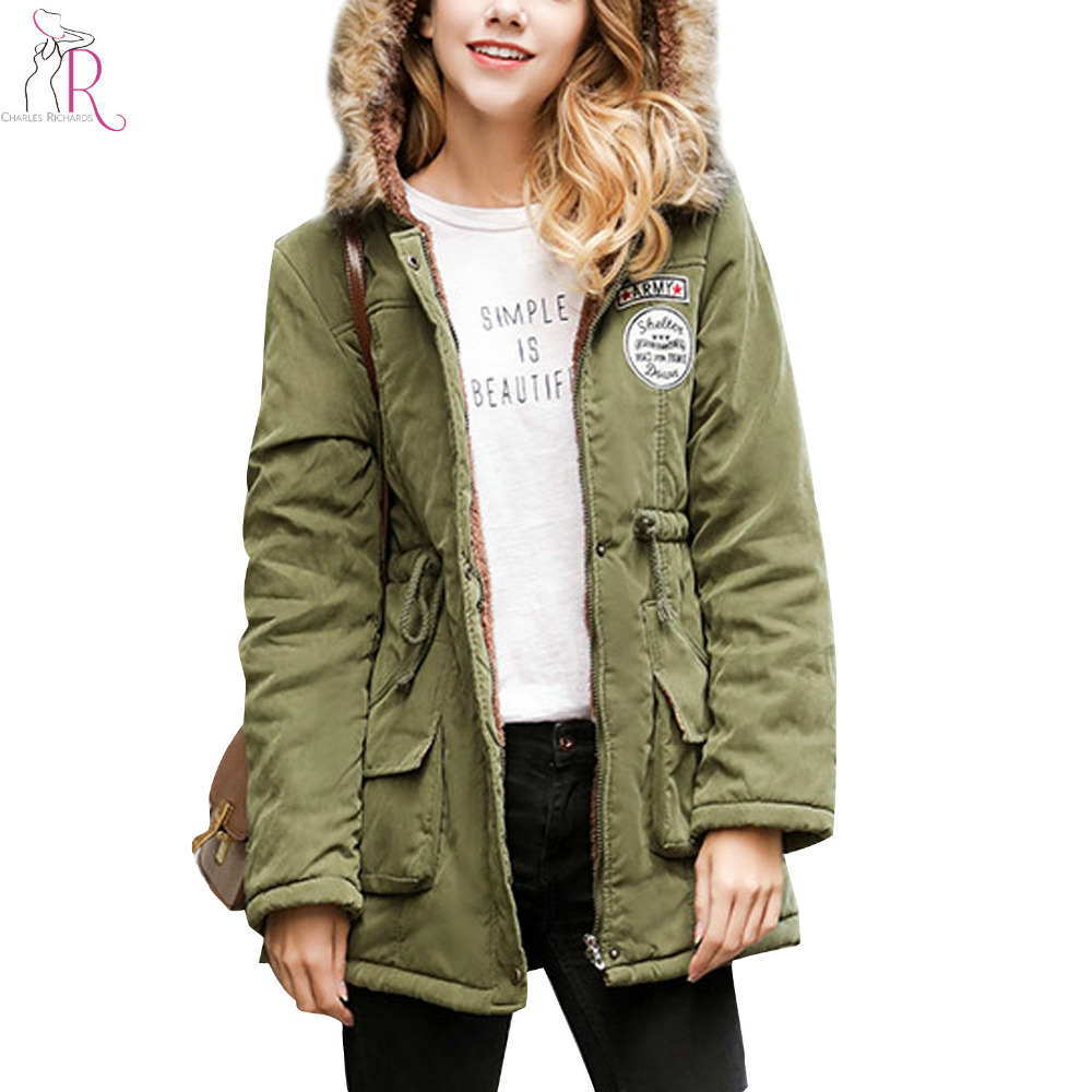 Plus Size 3 Colors Drawstring Patch Faux Shearling Lining Hooded Padded Coat Winter 2017 Women Pockets Warm Thick OutwearÎäåæäà è àêñåññóàðû<br><br>