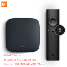 Original Xiaomi MI TV BOX 3 Smart 4K HD Android TV Box Quad Core 2G/8G Dual WiFi with Youtube Kodi IPTV Media Player Set Top Box(China)